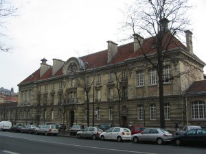 Main entrance of Arts et Metiers School in Paris